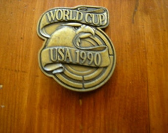 soccer bet buckle-world cup-football-sports-collector item-