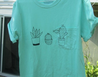 Hand Painted Cactus Shirt