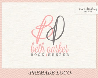 Hand Drawn Initials One of a Kind Logo Design and Watermark  -  FB063