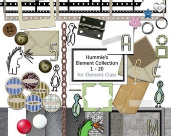Digital Scrapbooking Element Collection 1