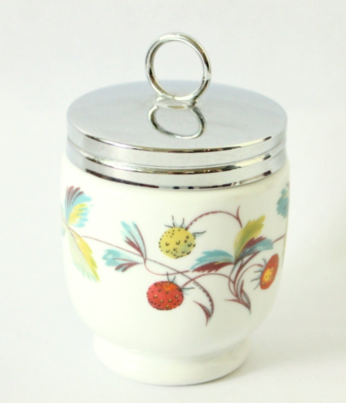 Sale King Size Royal Worcester Egg Coddler In The Strawberry