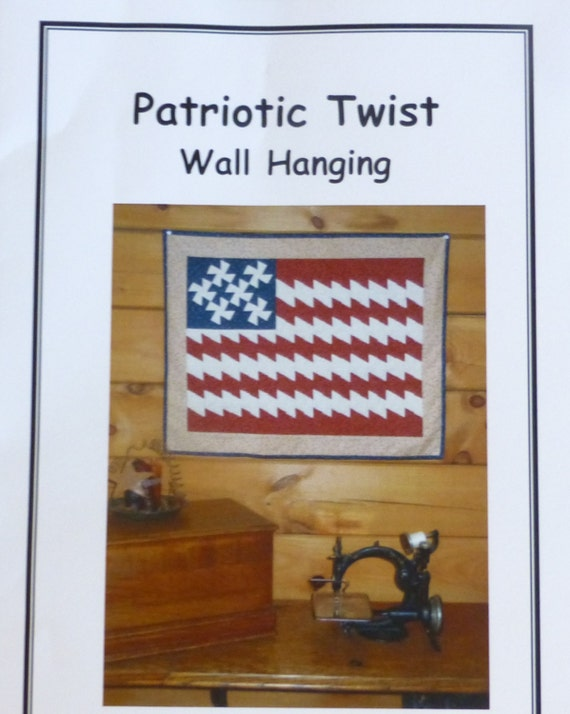 patriotic twist flag wall hanging pattern july 4 pattern. Black Bedroom Furniture Sets. Home Design Ideas