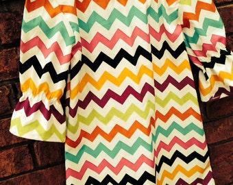 Multicolored Chevron Dress