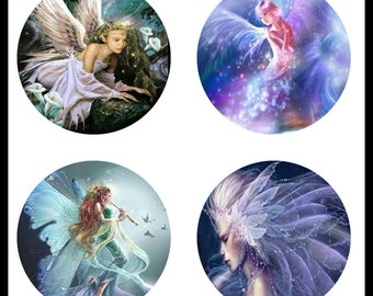 Fairies - Fairy Images - 30mm Bezels - Fairy Pendants - Instant Download - Digital Download Sheet - Collage Sheet - 30mm Circles - DDP266