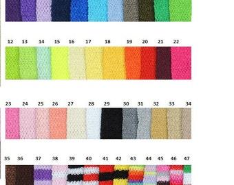 """9""""  Crochet Tube Tops 2.50 ea."""