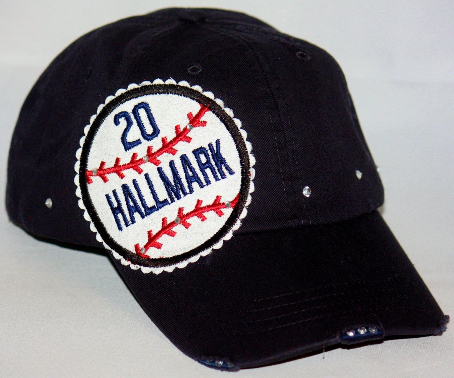 customized baseball hat baseball embroidery applique