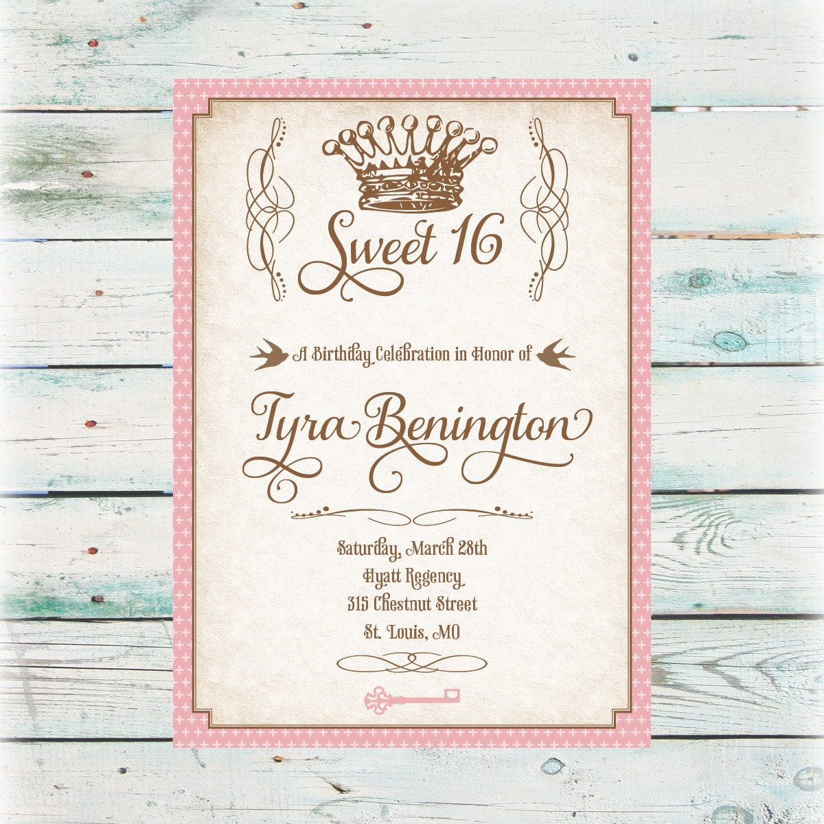 This is a graphic of Juicy Free Printable Sweet 16 Invitations