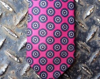 Vintage tie, hand printed and hand made