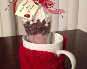 Hot Chocolate and Coffee Mug Sweater Cozy Gift Set