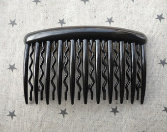 40pcs plastic Hair Combs (21 teeth)--black plastic hair comb 90x52mm  HA49