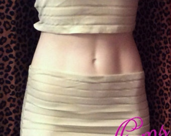2 piece bodycon skirt and top