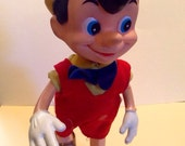 Vintage Walt Disney Productions 1960s Pinocchio Posable Doll