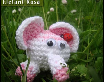 Amigurumi elephant pink
