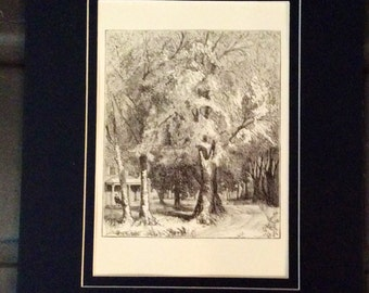Antique Engraving By A. Bobbett