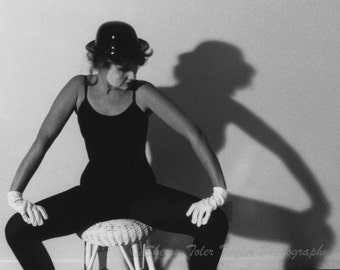 """Fine Art Photography -""""Mime"""" Black and White Photography,Figure Photography,Shadow Dancing,Portrait Photography,Dance Photograph,5x7,8x10"""
