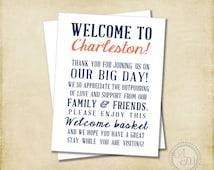 Wedding Gift Basket Notes : Wedding Welcome Basket, Welcome Bag, Wedding Favor, Hotel Gift Bag ...