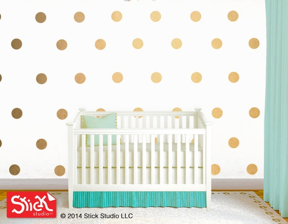 Polka Dot Wall Decals Gold Polka Dot Wall Decal Removable - Wall decals like wallpaper