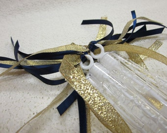 75 Ceremony Wedding Bubble Wands Double ribbon