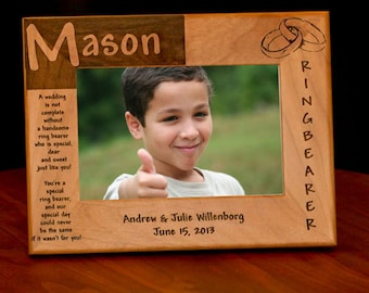 Wedding Ring Bearer Personalized Picture Frame