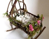 Fairy baby rocking cradle...