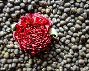 Small Burgundy Chrysanthemum Ribbon Blossoms