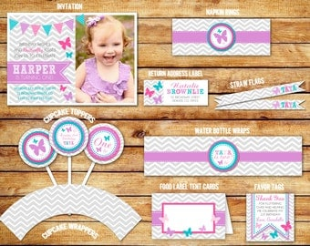 Butterfly Birthday Ultimate Party Package - Printable