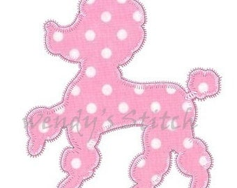 Poodle applique machine embroidery design digital pattern for Poodle skirt applique template