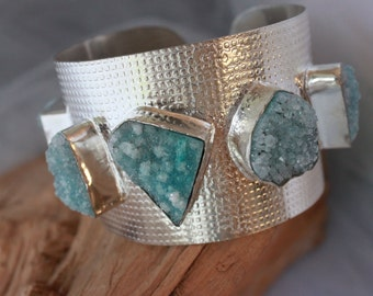 HUGE! Five DRUZY Cuff,sPECTACULAR PIECE!