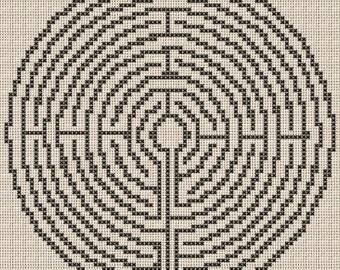 Labyrinth Cross Stitch Pattern