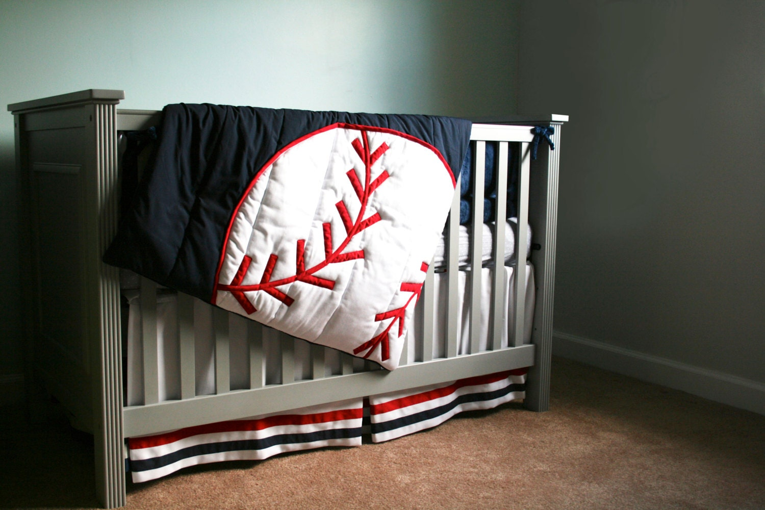 Grand Slam Comforter Baseball Theme Decor By Thetextileshop321