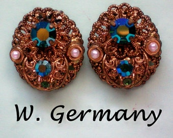 Western Germany Filigree Clip Earrings - 2999