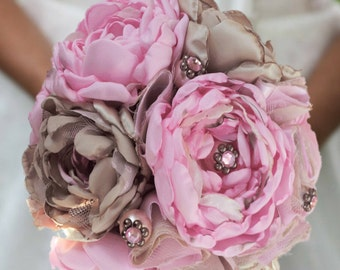 Bridal Bouquet Shabby Chic Pink