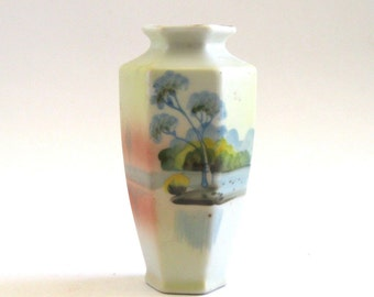 Japan - Bud Vase with Landscape Scene