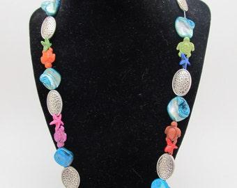 Sea Turtle & Starfish Necklace