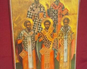 Christian Icon, Greek Orthodox Art, Religious Icon print, Christian Decor,