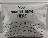 Personalized; Quartet gifts; Zippered pouch; Cosmetic bag; Zippered bag