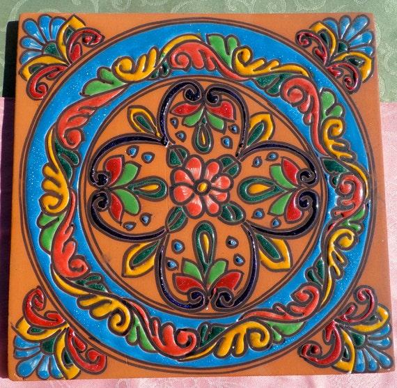 1 cer mica talavera mexicana 12 azulejo escalera piso for Azulejo de talavera mexico
