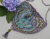OOAK Handcrafted Beadwork Purse with Freshwater Pearls