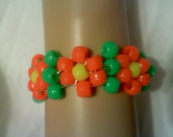 Orange Daisy Kandi Mini Cuff Bracelet  Ready for EDC