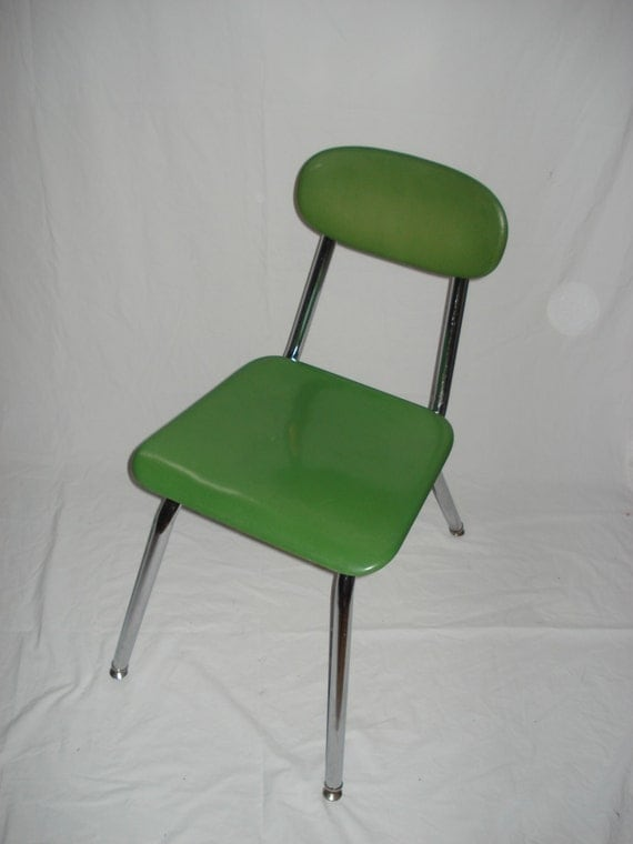 Modern Classroom Chairs ~ Retro green school chairs mid century modern vintage chrome
