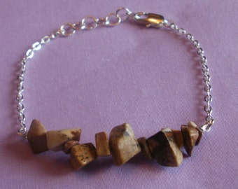 Picture Jasper and Chain Bracelet