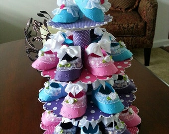 Baby Shower Shoe Favor Stand With Shoe Favors / Shower Favors / Shower Centerpiece / Baby Shower Favors