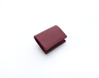 Maroon Red Leather Miniature Handcrafted Book Brooch - Tiny Unisex Book Accessory - Book Lover