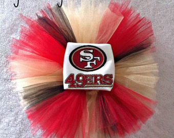 San Francisco 49ers Baby Girl Tutu and Shirt Set, San Francisco 49ers Tutu
