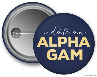 AGD Alpha Gamma Delta Boyfriend Sorority Greek Button
