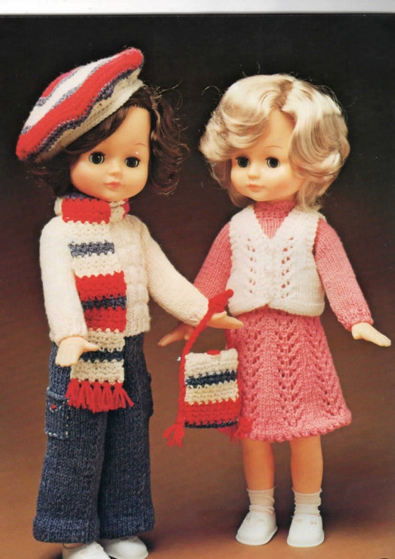 Wendy Knitting Patterns For Dolls : Vintage pattern to knit & crochet clothes for 41cm by ...