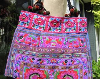 Tote bag, multicolor ethnic tote bag