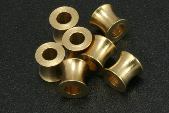 15 pcs raw brass cylinder bead 8x7,3 mm (hole 4 mm) industrial brass charms,raw brass findings spacer bead bab4