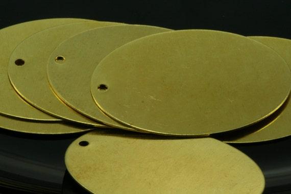 20 pcs Raw Brass 27x37 mm Oval 1 hole pendant, raw brass charms ,raw brass findings 594RT-60