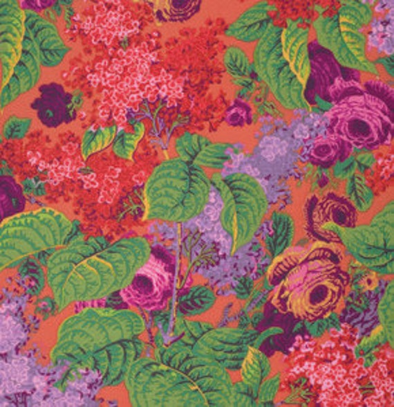 LILAC RED PWPJ068 Philip Jacobs Kaffe Fassett  Sold in 1/2 yd increments
